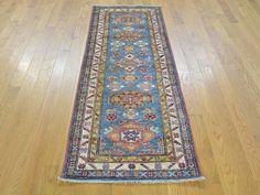 2'x6' Super Kazak Geometric Design Handmade Runner Oriental Rug G24996 #Caucasian