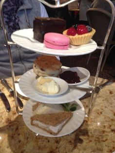 Bettys tea room in York ~ afternoon tea  complete with raspberry macaroon!