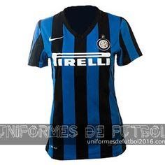Jersey local para uniformes de futbol para mujeres Inter Milan 2015-16  | uniformes de futbol economicos