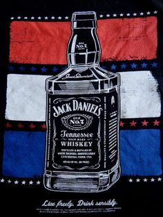 Jack Daniels XL T Shirt American Flag Patriot Live Freely Whiskey No 7 T-Shirt  #Alternative #GraphicTee
