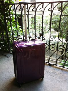 Purple ZERO Air Carry-on luggage, Italy.