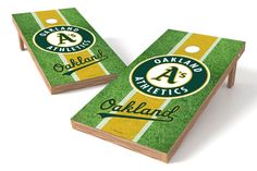Oakland Athletics Cornhole Board Set - Field (w/Bluetooth Speakers)