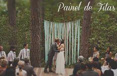 vou casar e panz...: Decoração com painel de fitas