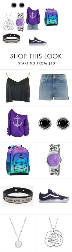"""""""Zoey`s erster Schultag"""" by silverlp-1 on Polyvore featuring Mode, Topshop, Lee, WithChic, Thomas Sabo, PBteen, Akribos XXIV, Pink Box, Vans und Honora"""