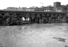 November 4th 1966 - Ponte Vecchio & The Vasari Corridor threatened by the flood