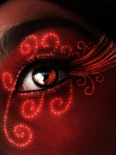 Red fire works by ceciliay on deviantART Pretty Eyes, Cool Eyes, Beautiful Eyes, Eyes Without A Face, Look Into My Eyes, Red Contacts, Halloween Contacts, Halloween Eyes, I See Red