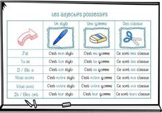 les adjectifs possessifs