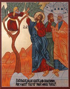 ... Religious Icons, Religious Art, Zacchaeus, Orthodox Icons, Roman Catholic, Jesus Christ, Disney Characters, Fictional Characters, Pictures