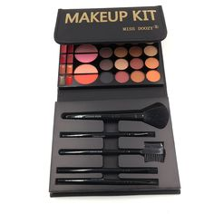 20 Color Glitter Matte Eyeshadow Palette Waterproof Nude Cosmetics Kit Eye shadow Blush Lipstick Makeup Set with Brush I301
