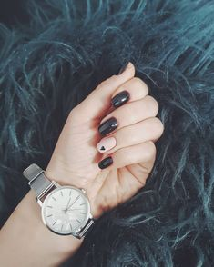 Black love short nails 🖤 Black Love, Short Nails, My Nails, Watches, Accessories, Instagram, Nail Hacks, Wristwatches, Clock