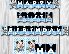 Check out our baby mickey mouse birthday selection for the very best in unique or custom, handmade pieces from our shops. Baby Mickey Mouse, Mickey Mouse Clubhouse, Mickey Mouse Banner, Mickey Mouse Decorations, Theme Mickey, Mickey Mouse 1st Birthday, 1st Birthday Banners, Baby 1st Birthday, Birthday Ideas