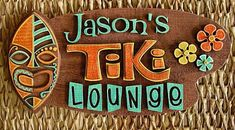 This is a rework of one of our best selling tiki bar signs, but this version has more detail using the laser cut pieces. Description from tikiroom.com. I searched for this on bing.com/images