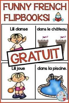 FREE funny flipbooks to practice French vocabulary and reading comprehension! Help improve fluency in reading with predictable sentences during French reading centers. French Teaching Resources, Teaching Activities, Teaching French, Teaching Kindergarten, Reading Resources, Learn French Beginner, French For Beginners, Ways Of Learning, Student Learning
