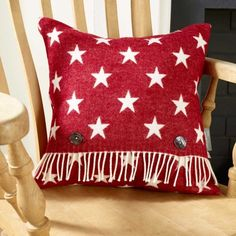 Wool Cushion- Red Star Cushion available on Wysada.com