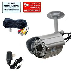 VideoSecu Audio Video Outdoor Day Night Vision IR Infrared Bullet Security Camera Home CCTV Surveillance with Power Supply and Audio Video Power Cable WF4. Details at http://youzones.com/videosecu-audio-video-outdoor-day-night-vision-ir-infrared-bullet-security-camera-home-cctv-surveillance-with-power-supply-and-audio-video-power-cable-wf4/