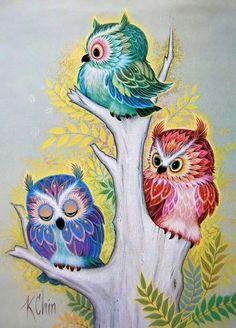 diamond embroidery animal three little owl on the tree diy diamond painting sets drill bead cross stitch square embroidery. Owl Art, Bird Art, Quilling, Tree Tattoo Arm, Willow Tree Tattoos, Art Mignon, Owl Wallpaper, Owl Illustration, Owl Cartoon