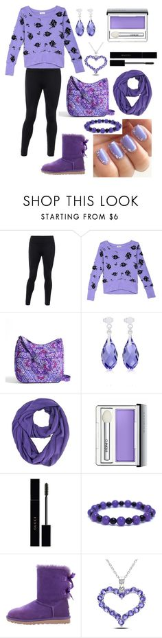 """Lovely lavender"" by ashleyhuang68 ❤ liked on Polyvore featuring Vera Bradley, Clinique, Gucci, UGG and Miadora"