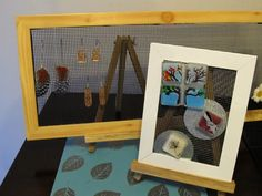 DIY Picture Frame Earring Display