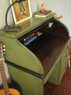 European Paint Finishes: ~ Vintage Roll Top Desk ~