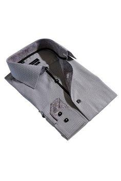 Tommy Long Sleeve Dress Shirt in Black