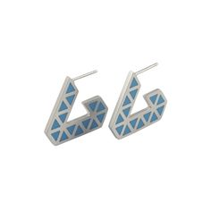 Iso+tronqué+triangle+hoop+earrings+-+small, £80.00