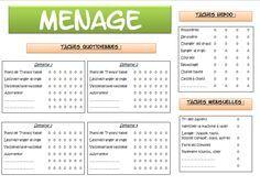 T l charger pmi modele de tableau de planning d enfants - Organisation menage quotidien ...