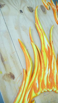 FLAME ME: The dark orange is best kept to the inside grooves for maximum effect...