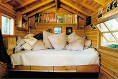 Loft idea for the cabin! <3 love this!