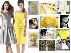 Events By Love: color inspirations - Slate Grey & Yellow