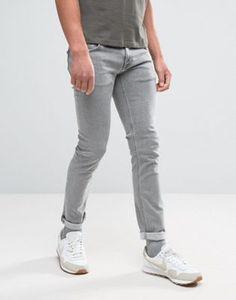 Серые обтягивающие джинсы Nudie Jeans Co