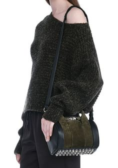 ALEXANDER WANG new-arrivals-bags-woman MINI ROCKIE IN NUBUCK GRASS AND SOFT PEBBLED NEPTUNE