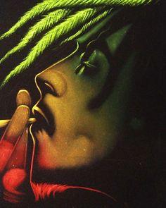 **Bob Marley** ►►More fantastic digital paintings & digital photography artworks, pictures, music and videos of *Robert Nesta Marley* on: https://de.pinterest.com/ReggaeHeart/
