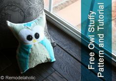 another owl stuffy pattern and tutorial