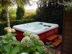 Would LOVE to have a nice big multi-person jacuzzi with a wood enclosure :)