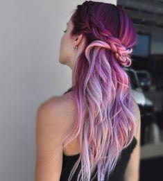 Fab-u-lous. This new unicorn hair tutorial includes a horn along with magical rainbow-dyed hair. We want unicorn hair, we want it now! Rainbow Dyed Hair, Dyed Hair Pastel, Pastel Pink, Pastel Colours, Hair Dye Colors, Cool Hair Color, Exotic Hair Color, Gold Hair, Purple Hair
