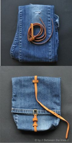 reciclar jeans bolso DIY muy ingenioso1