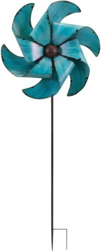 Windmills and Wind Spinners 115772: Wind Spinner Garden Stake Decorative Lawn Ornament Pinwheel Blue Decor 51 Inches -> BUY IT NOW ONLY: $89.99 on eBay!