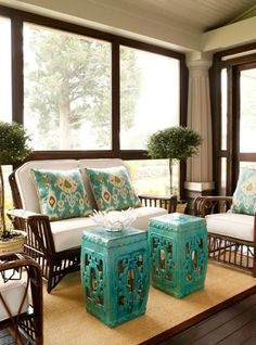 Cottage Style Screened in Porches - Decorating Inspiration Photos