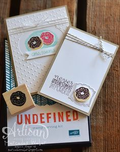 Mercedes Weber- August Artisan Wednesday Wow #4   #Undefined  #SU  Love that she carved her own donut stamp!