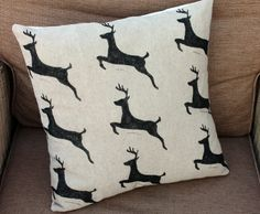 Leaping Deer Cushion, £19 #craftfest