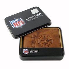 Steelers BILLFOLD Leather Mens Embossed NFL Football eb971557c