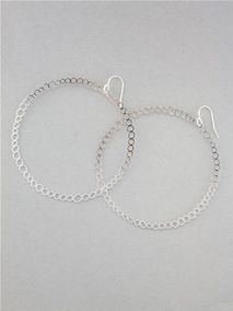Large Circle Hoop Earrings by Kris Nations