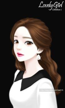 2016년 러블리걸 일러스트 모음_2 : 네이버 블로그