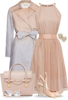 Very lady like. Luv it! Fashion Moda, Look Fashion, Spring Fashion, Womens Fashion, Gq Fashion, Funny Fashion, Cute Dresses, Beautiful Dresses, Pleated Dresses