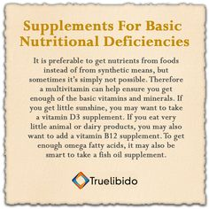 Supplements For Basic #Nutritional Deficiencies