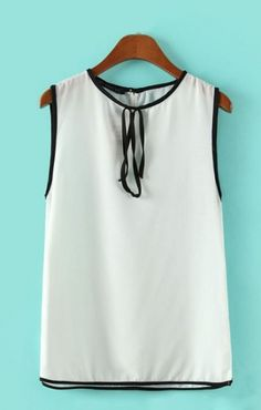 O-neck Sleeveless White Pullover Casual Vest
