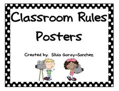 Hollywood Theme Classroom | Hollywood Themed Classroom Rules Mini Posters