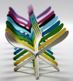 and colors....JOIN Cutlery by DING3000 with Konstantin Slawinsk....functional and atomic-like!
