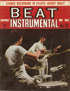Keith Moon and Pete Townshend of THE WHO on the cover of the UK music magazine, BEAT INSTRUMENTAL, Dec. 1965.