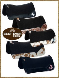 Best Ever Custom Saddle Pads-Hundreds of options..!  Can't access any of the links but I want one of these so bad!!